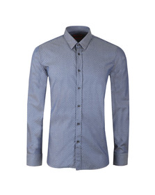 Hugo Mens Blue Elisha 01 Diamond Pattern Shirt