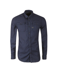 G-Star Mens Blue L/S Landoh Check Shirt