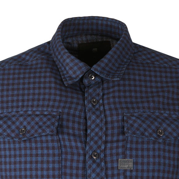 G-Star Mens Blue L/S Landoh Check Shirt main image