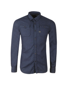 G-Star Mens Blue L/S Landoh Shirt