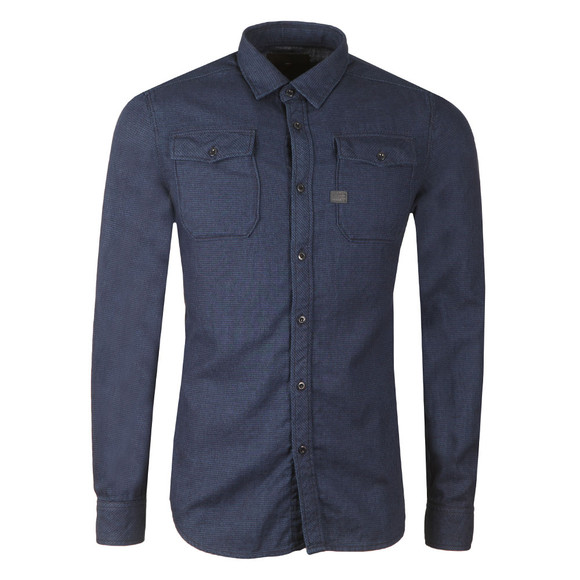 G-Star Mens Blue L/S Landoh Shirt main image