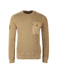 Pretty Green Mens Green Crew Pocket Sweat