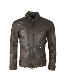 Pretty Green Mens Black Jennets Leather Jacket