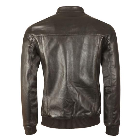 Ted Baker Mens Black Leather Bomber Jacket main image