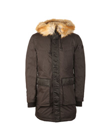 Diesel Mens Black W Folk Coat