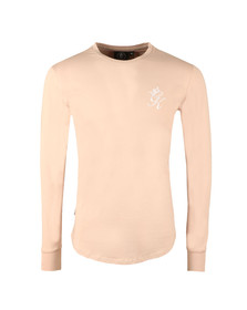 Gym king Mens Beige Long Sleeve Undergarment Tee