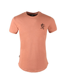 Gym king Mens Pink Core Long Line Tee