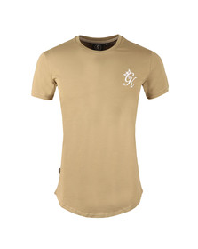 Gym king Mens Beige Core Long Line Tee