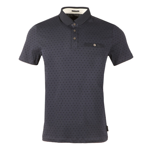 Ted Baker Mens Blue S/S Over Spot Polo main image