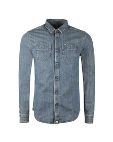 Superdry Mens Blue Rokkie Raw Riviter Shirt