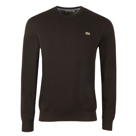 Lacoste Mens Black AH7371 Crew Neck Jumper main image