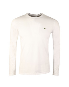 Lacoste Mens White TH6712 LS Tee