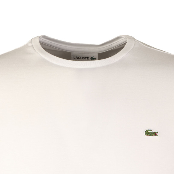 Lacoste Mens White TH6712 LS Tee main image