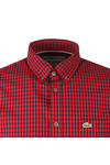 Lacoste Mens Red L/S CH9559 Check Shirt