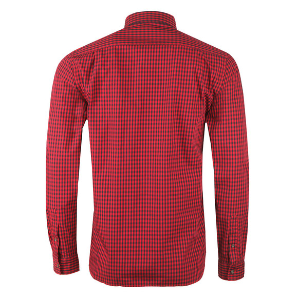 Lacoste Mens Red L/S CH9559 Check Shirt main image