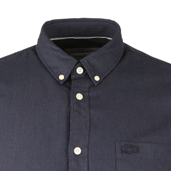 Lacoste Mens Blue CH9597 Dot LS Shirt main image