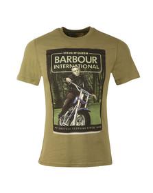 Barbour Steve McQueen Mens Green Woodland Ride Tee