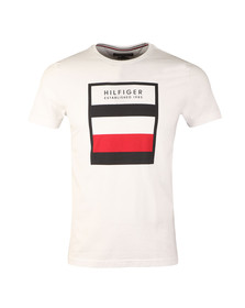 Tommy Hilfiger Mens White S/S Norman Tee