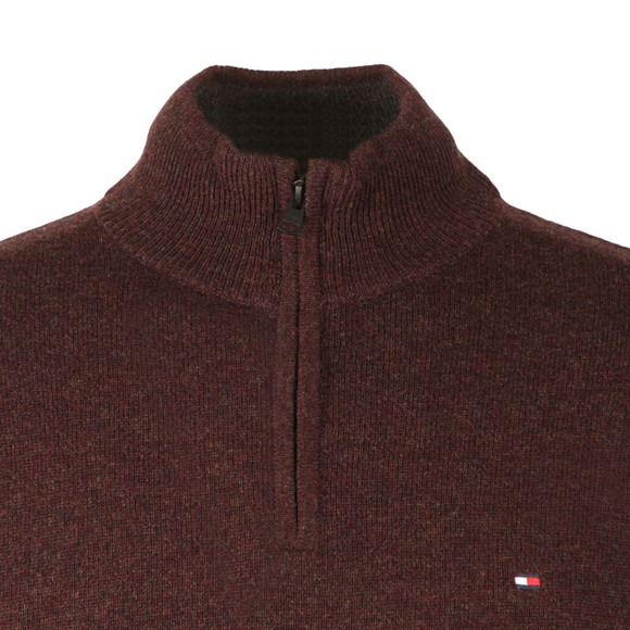 Tommy Hilfiger Mens Red Liam 1/2 Zip Jumper main image