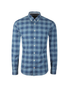 Tommy Hilfiger Mens Blue Block Check LS Shirt