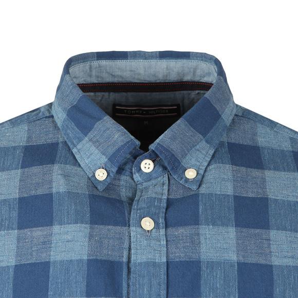 Tommy Hilfiger Mens Blue Block Check LS Shirt main image