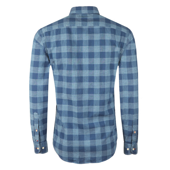 Tommy Hilfiger Mens Blue Block Check LS Shirt main image