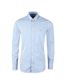 Tommy Hilfiger Mens Blue Lexington Stripe LS Shirt