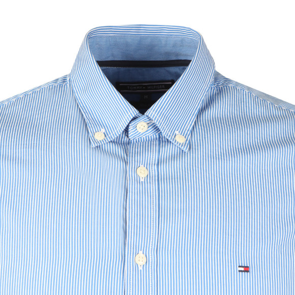 Tommy Hilfiger Mens Blue Lexington Stripe LS Shirt main image