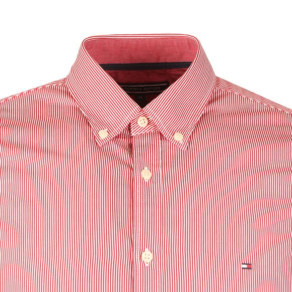 Tommy Hilfiger Mens Red Lexington Stripe LS Shirt main image