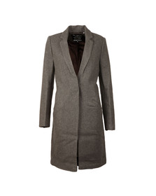 Superdry Womens Dark Charcoal Marl Atelier Tailored Coat