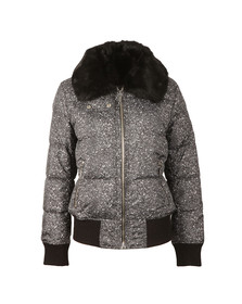 Michael Kors Womens Black Printed Puffer Jacket