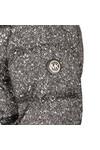 Michael Kors Womens Black Printed Puffer Jacket