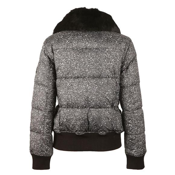 Michael Kors Womens Black Printed Puffer Jacket main image