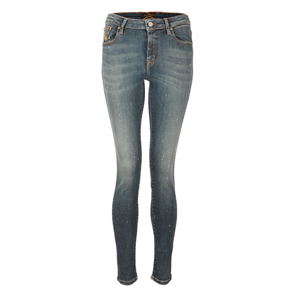 Vivienne Westwood Anglomania Womens Blue Super Skinny Jean main image
