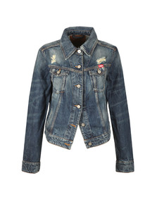 Vivienne Westwood Anglomania Womens Blue Weave Classic Denim Jacket