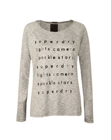 Superdry Womens Grey Foil Graphic Knit Top