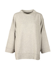 French Connection Womens Grey Sudan Marl 3/4 Sleeve Top