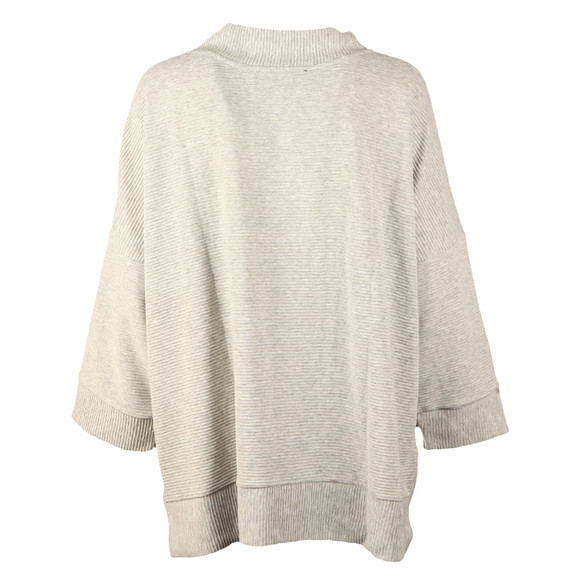 French Connection Womens Grey Sudan Marl 3/4 Sleeve Top main image
