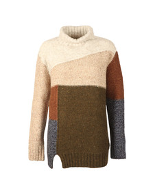 French Connection Womens Multicoloured Anna Patchwork Knit
