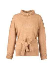 French Connection Womens Beige Reba High Neck Knit Jumper