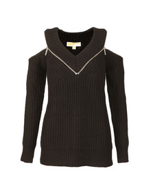 Michael Kors Womens Black Zip Detail Sweater