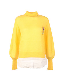 French Connection Womens Yellow Ava High Neck Knit Jumper
