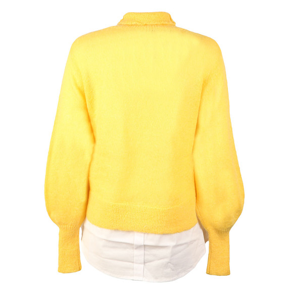 French Connection Womens Yellow Ava High Neck Knit Jumper main image