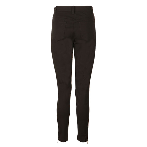 Michael Kors Womens Black Hi Rise Zip Pocket Skinny Trouser main image