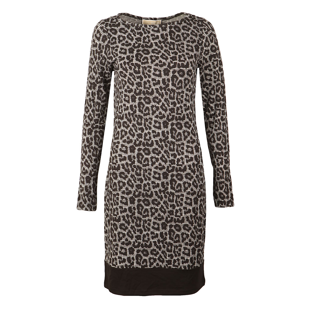 Leopard Long Sleeve Border Dress main image