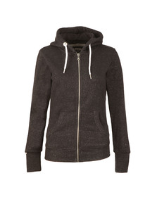Superdry Womens Black Orange Label Luxe Zip Hoody