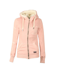 Superdry Womens Canyon Pink Applique Zip Hoody