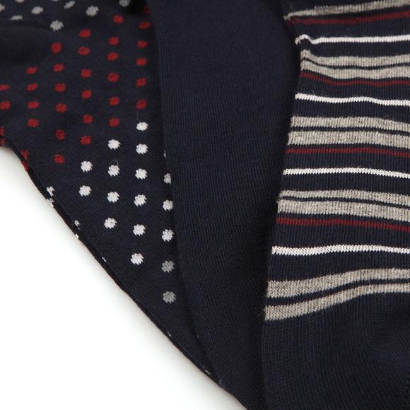 Emporio Armani Mens Blue Fantasia 3 Pack Socks main image