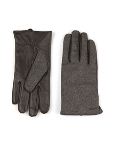 Scotch & Soda Mens Grey Wool/Leather Glove