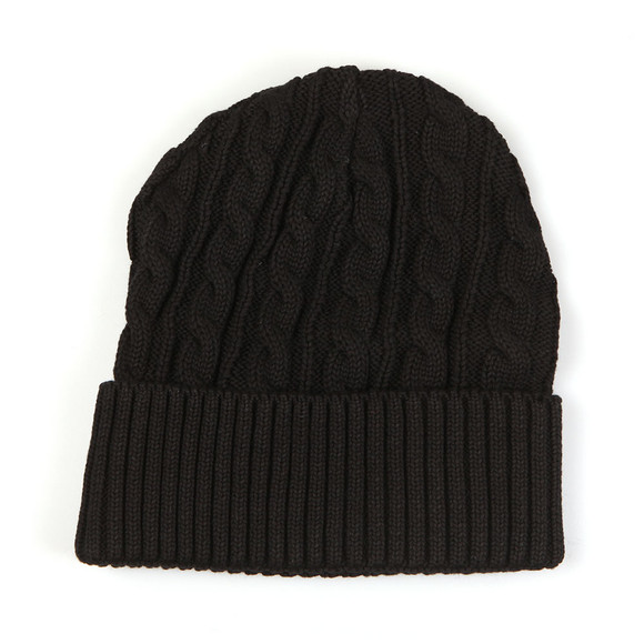 Sik Silk Mens Black Cable Knit Beanie main image